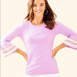 NWT Lilly Pulitzer lavender bell sleeve sweater